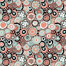 Millefiori in coral and mint by wiccked