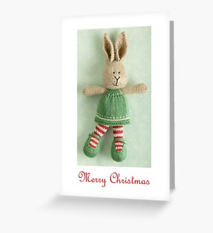 christmas bunny girl (2) Greeting Card