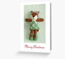 christmas foxy girl Greeting Card