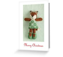 christmas foxy girl Greeting Card