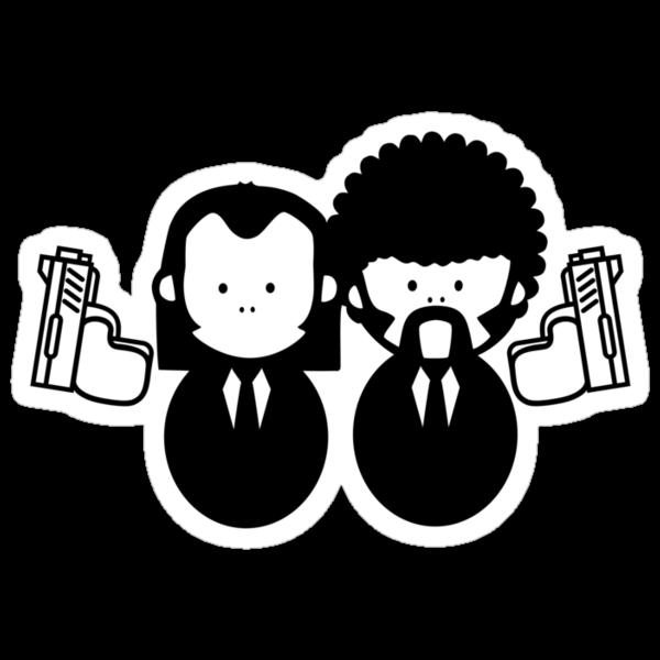 Pulp Fiction Vince & Jules Cartoons v.2.0 by no-doubt