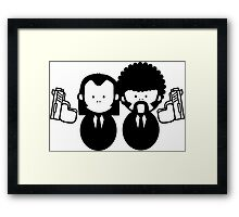 Pulp Fiction Vince & Jules Cartoons v.2.0 Framed Print