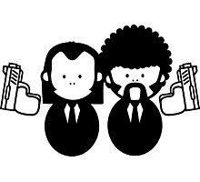 Pulp Fiction Vince & Jules Cartoons v.2.0 Photographic Print