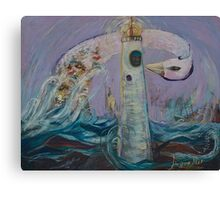 The Lighthouse Keeper and the Swan #1 Canvas Print