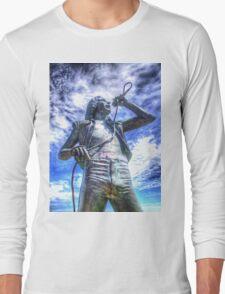 Bon Scott Statue -  HDR - Fremantle WA Long Sleeve T-Shirt