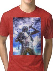 Bon Scott Statue -  HDR - Fremantle WA Tri-blend T-Shirt