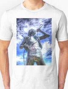 Bon Scott Statue -  HDR - Fremantle WA T-Shirt