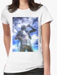 Bon Scott Statue -  HDR - Fremantle WA Womens Fitted T-Shirt