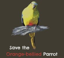 Orange-bellied Parrot products (dark background colours) T-Shirt