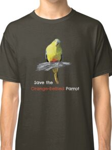 Orange-bellied Parrot products (dark background colours) Classic T-Shirt