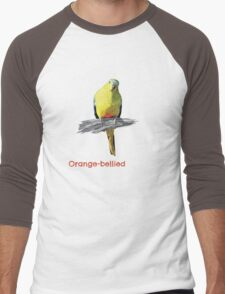 Orange-bellied Parrot products (dark background colours) Men's Baseball ¾ T-Shirt