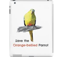 Orange-bellied Parrot products (light background colours) iPad Case/Skin