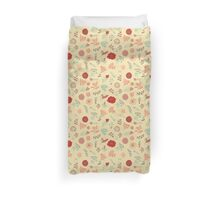 Elegance Seamless pattern with flowers, vector floral illustration in vintage style Duvet Cover