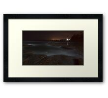 Night light at Coledale Framed Print