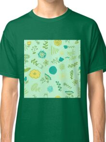 Elegance Seamless pattern with flowers, vector floral illustration in vintage style Classic T-Shirt