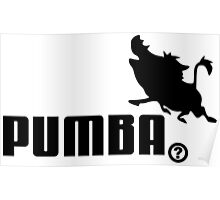 Pumba, Lion King vs. Puma Poster