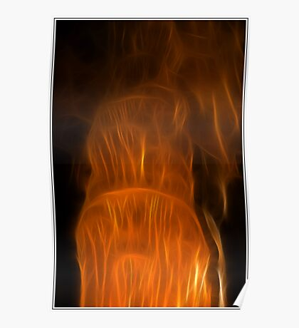 Column in the Luray Caverns Poster