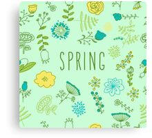Elegance Seamless pattern with flowers, vector floral illustration in vintage style Canvas Print
