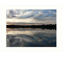 Murray River Sun Set Art Print