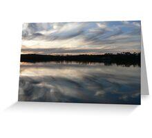 Murray River Sun Set Greeting Card