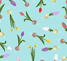 spring background sweet seamless flovers pattern by OlgaBerlet