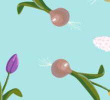 spring background sweet seamless flovers pattern Sticker