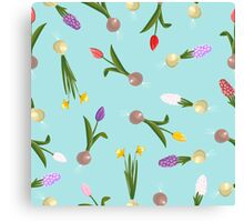 spring background sweet seamless flovers pattern Canvas Print