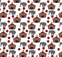 Circus Tents and Elephants Duvet Cover by Gotcha29