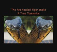 Two headed Tiger snakes Only in Tas by Thow's Photography