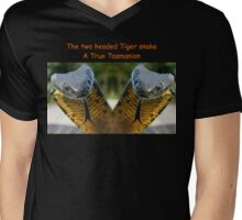 Two headed Tiger snakes Only in Tas Mens V-Neck T-Shirt