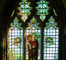 St Davids Cathedral Pembrokeshire Wales - Stained Glass Window by Bev Pascoe