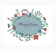 HAPPY EASTER hand lettering handmade calligraphy scalable and editable vector illustration Baby Tee