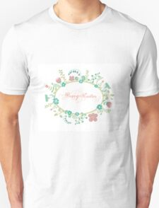 HAPPY EASTER hand lettering handmade calligraphy scalable and editable vector illustration Unisex T-Shirt