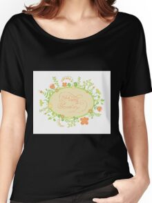 HAPPY EASTER hand lettering handmade calligraphy scalable and editable vector illustration Women's Relaxed Fit T-Shirt