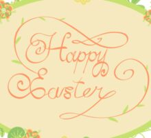 HAPPY EASTER hand lettering handmade calligraphy scalable and editable vector illustration Sticker
