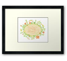 HAPPY EASTER hand lettering handmade calligraphy scalable and editable vector illustration Framed Print
