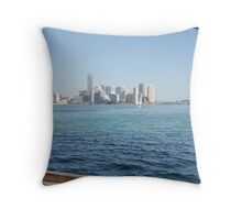 downtown Miami Throw Pillow
