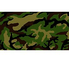 Camouflage Military Tribute Photographic Print