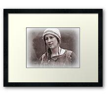 Viking in York #4, Scar Framed Print