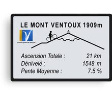 Mont Ventoux Road Sign Replica Print or Metal Canvas Print