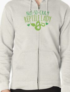not-so-crazy REPTILE Lady Zipped Hoodie