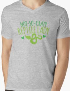 not-so-crazy REPTILE Lady Mens V-Neck T-Shirt