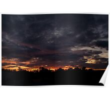 Cozy Fall Sunset Poster