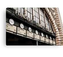 Time At Flinders Street Canvas Print