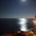 Waikiki By Moonlight.  by Sam  Parsons