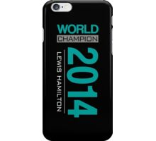 Lewis Hamilton - 2014 WDC iPhone Case/Skin