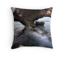 Sea Caves Throw Pillow
