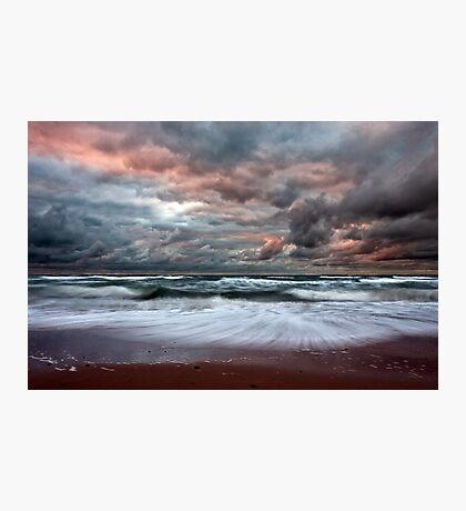 Stormy Skies of Inverness Beach Nova Scotia  Photographic Print