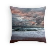 Stormy Skies of Inverness Beach Nova Scotia  Throw Pillow