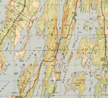 Maine USGS Historical Map Orrs Island 807005 1950 25000 Sticker